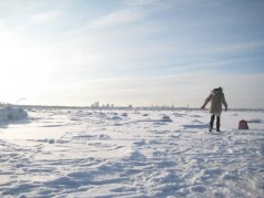 Passeggiando sul mare ghiacciato