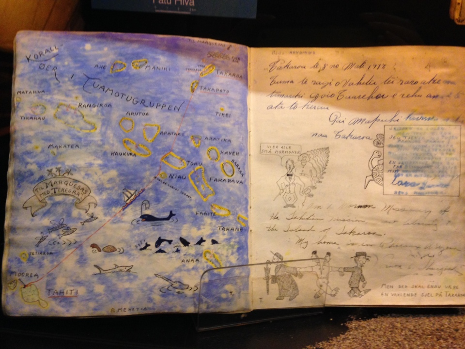 Il diario di Thor Heyerdahl custodito al Kon-Tiki Museet di Oslo