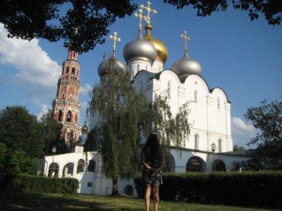 Saudadinha pura di fronte al convento di Novodevichy, Mosca
