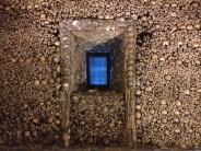 Particolare della Capela dos Ossos, Evora (Portogallo)