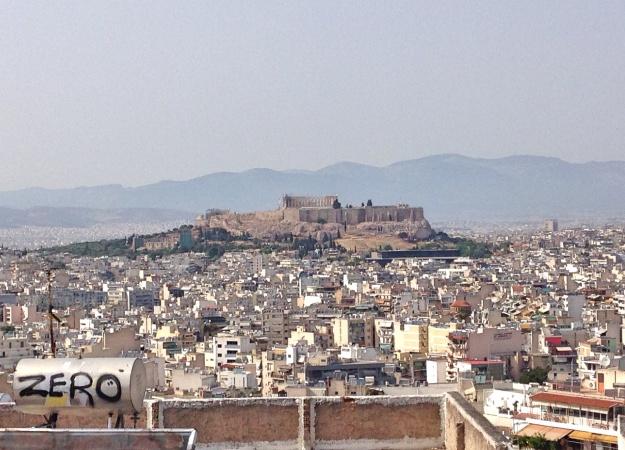 atene, vista sull'acropoli