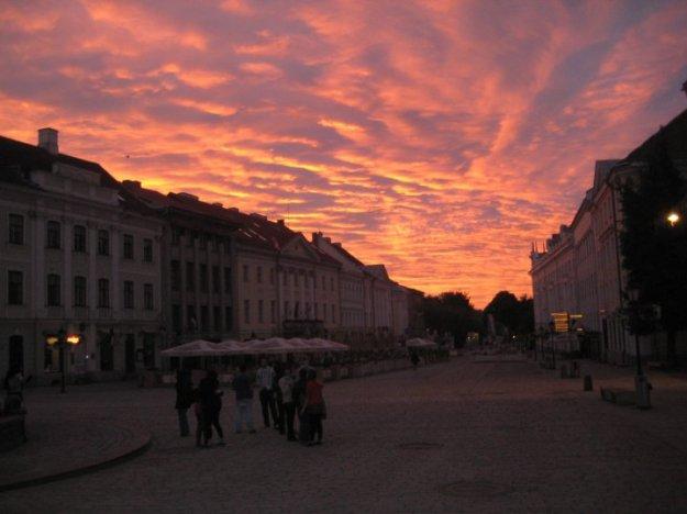 Sunrise in Tartu