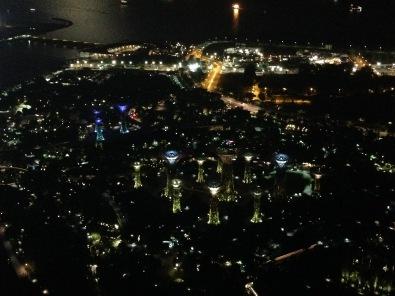 Il panorama dallo Skypark del Marina Bay Sands